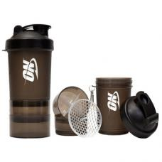 Optimum Nutrition Shaker 3 in 1 with metal ball (600 ml) black